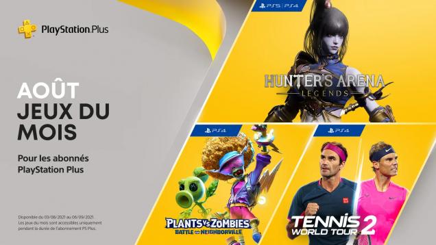 Jeux PS+ de août 2021