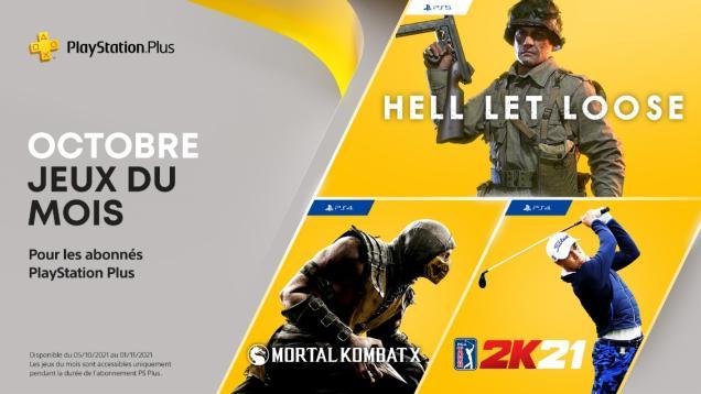 Jeux PS+ d'Octobre 2021