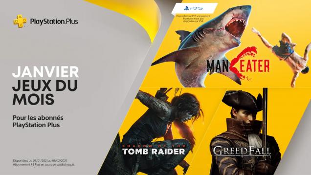 Jeux PS+ de janvier 2021