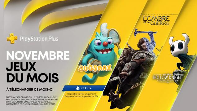 Jeux PS+ de novembre 2020